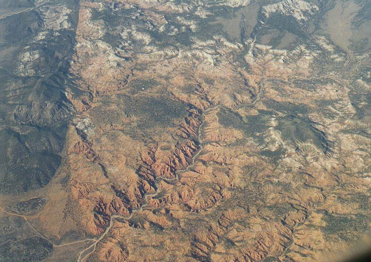 views from a plane to San-Francisco: Rocky Mountains, Colorado River, deserts