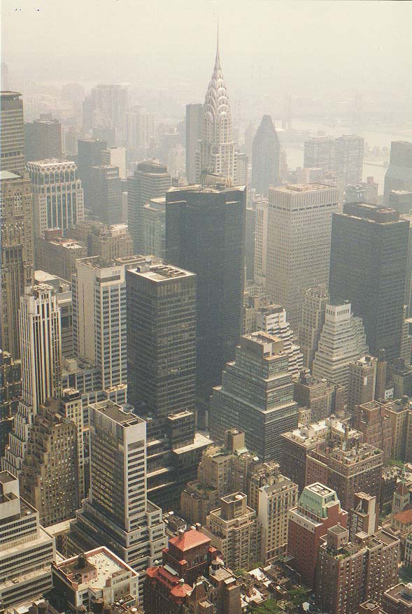 views from observation deck of Empire State Building