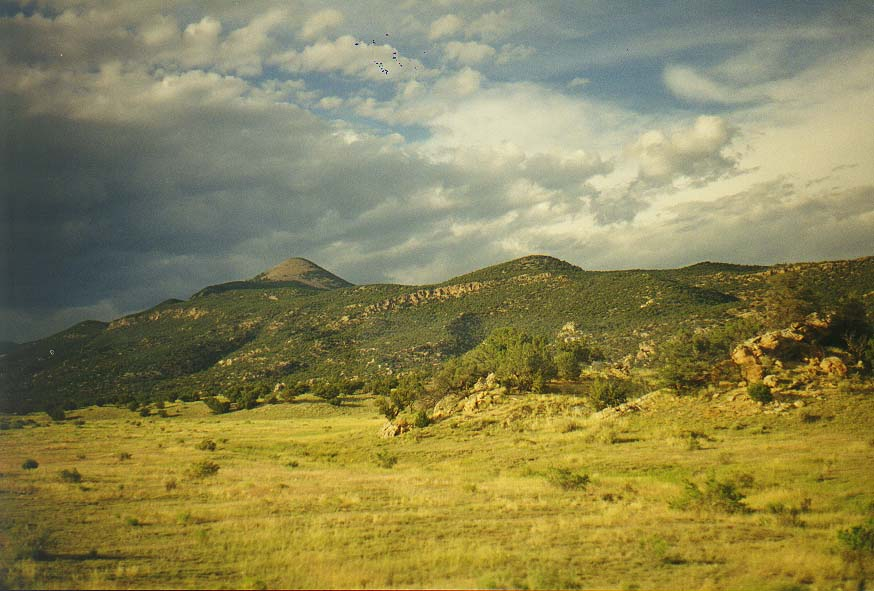 views of Colorado and New Mexico from the bus