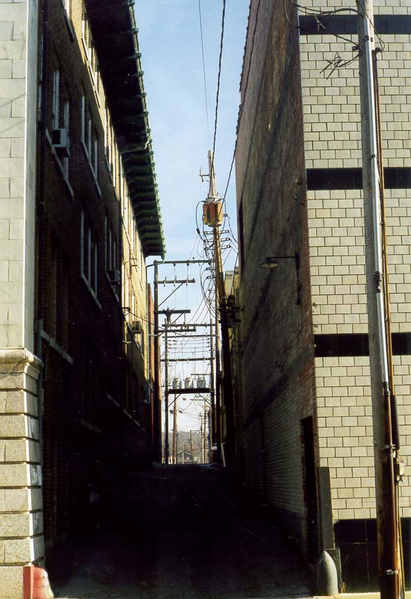 An alley in downtown Lafayette. Indiana