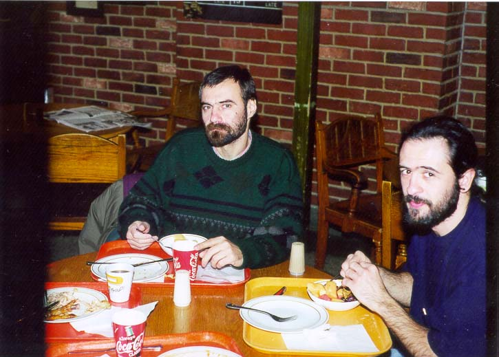 Pablo Serra and Huan Pablo Neirotti at a dinner...University. West Lafayette, Indiana