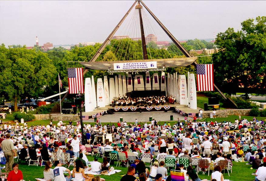 Patriotic concert in West Lafayette, Purdue campus
