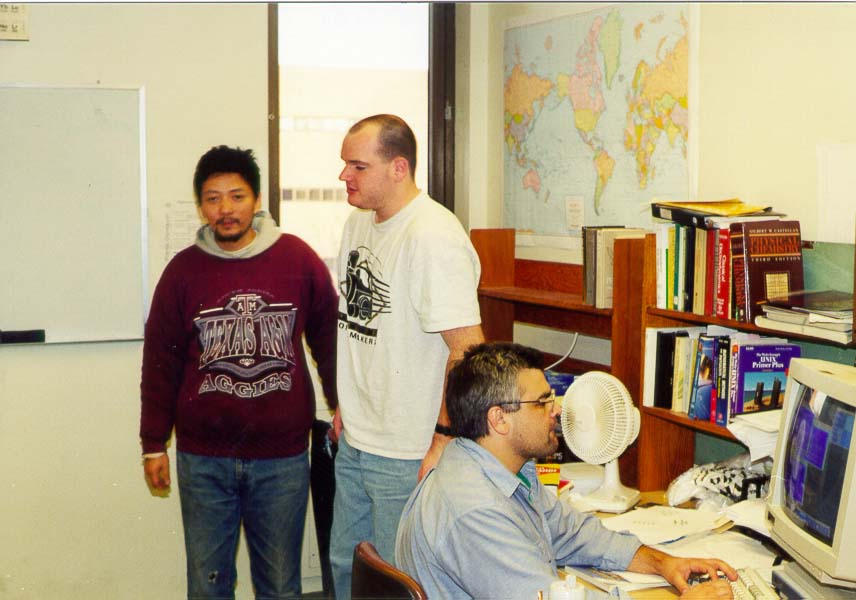 Jack Yang, Stephen Belair and Pablo Nigra in the...Purdue University, West Lafayette IN