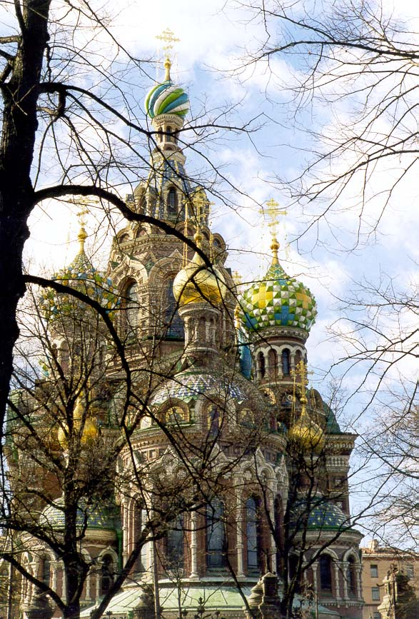 Church of Savior on Blood (recently renovated). St.Petersburg, Russia