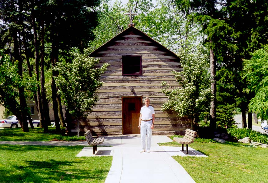 Log Chapel at the University of Notre Dame. South Bend, Indiana