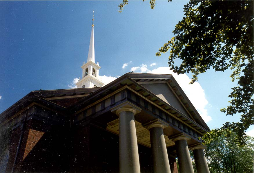 A church in Harvard University, Boston. Massachusetts