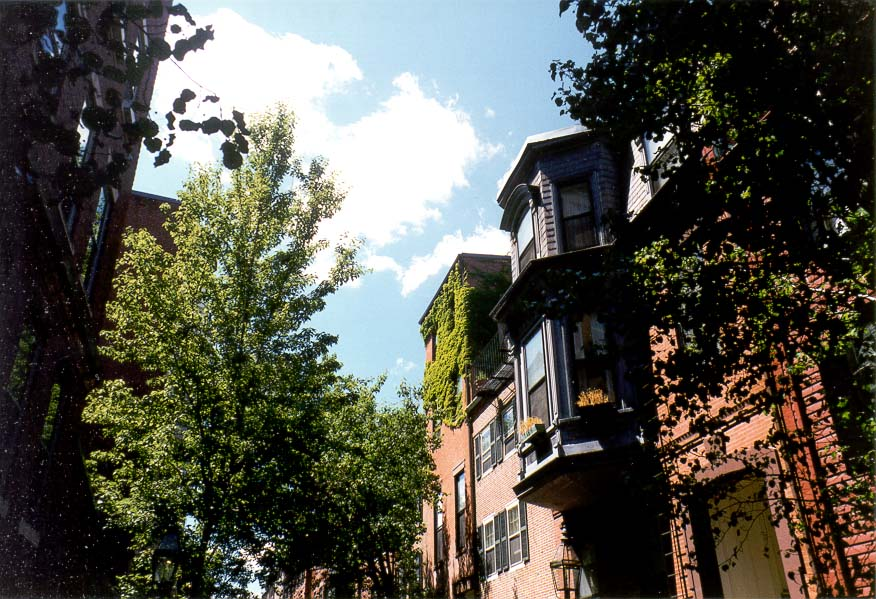 Pickney St. at Beacon Hill in Boston at the...of Black Heritage Trail. Massachusetts