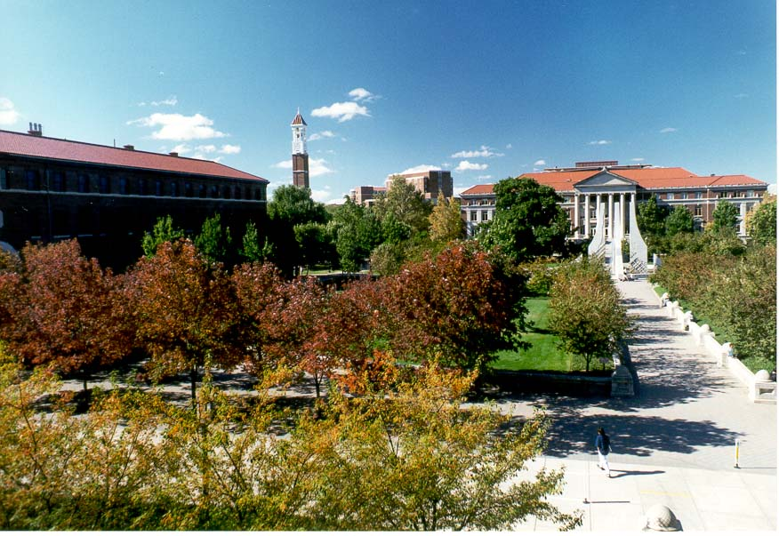 View of Purdue University Mall from the second...Building. West Lafayette, Indiana