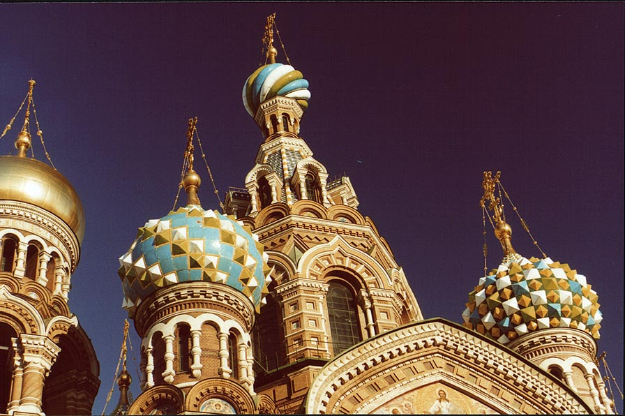 Church of Savior on Blood in downtown St.Petersburg. Russia