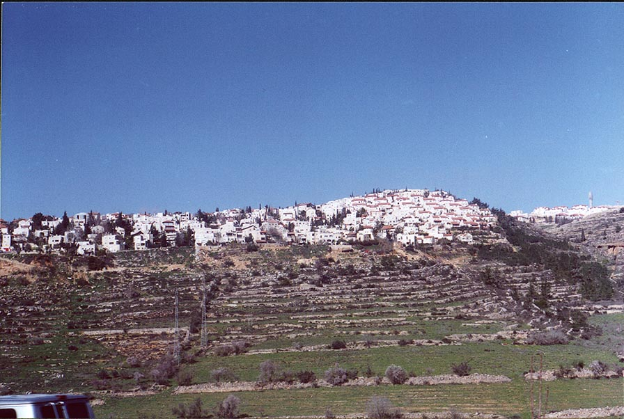 Judean Hills west from Jerusalem. The Middle East