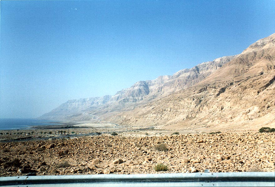 A road along Dead Sea, near Ein Gedi. The Middle East