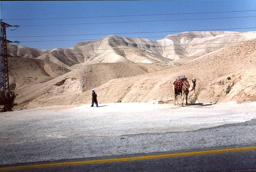 A road near Jericho, in mountains. The Middle East