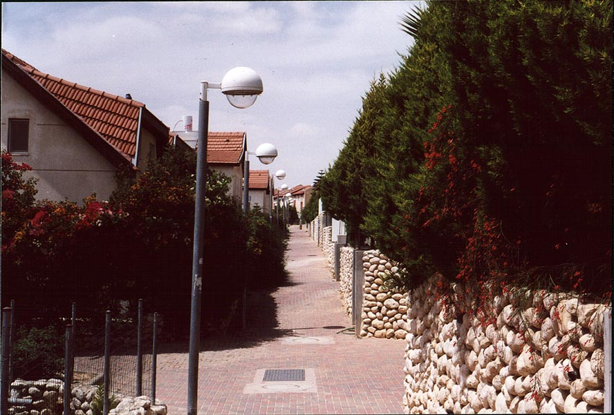 A street in upscale Ramot residential area. Beer-Sheva, the Middle East