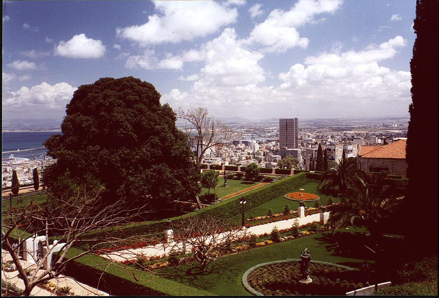 View of Haifa from Bahai garden. The Middle East