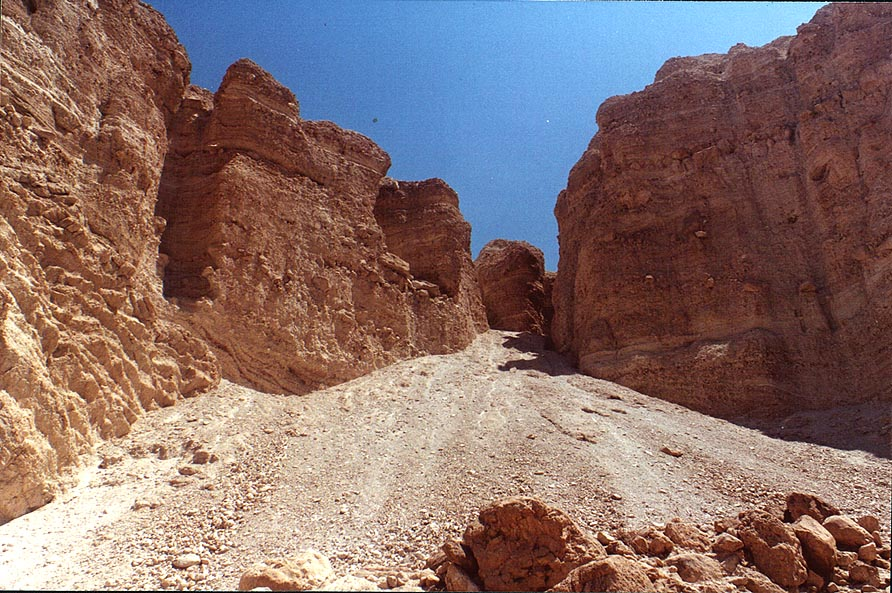 View from Ein Bokek Canyon. The Middle East