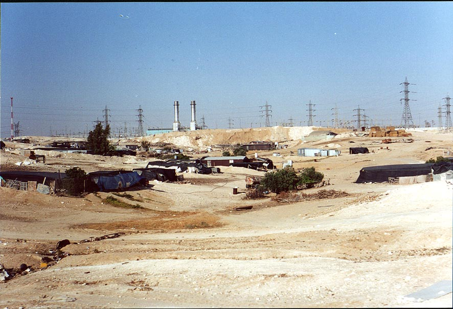 Bedouin settlements along the road south from Beer-Sheva. The Middle East