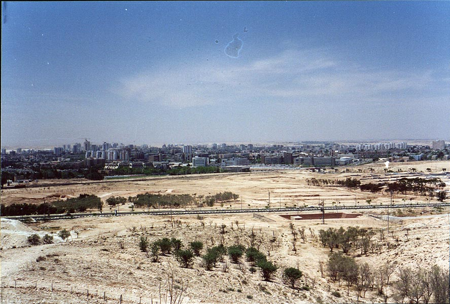 View of BGU and north-eastern Beer-Sheva from the...with Palmach Memorial. The Middle East