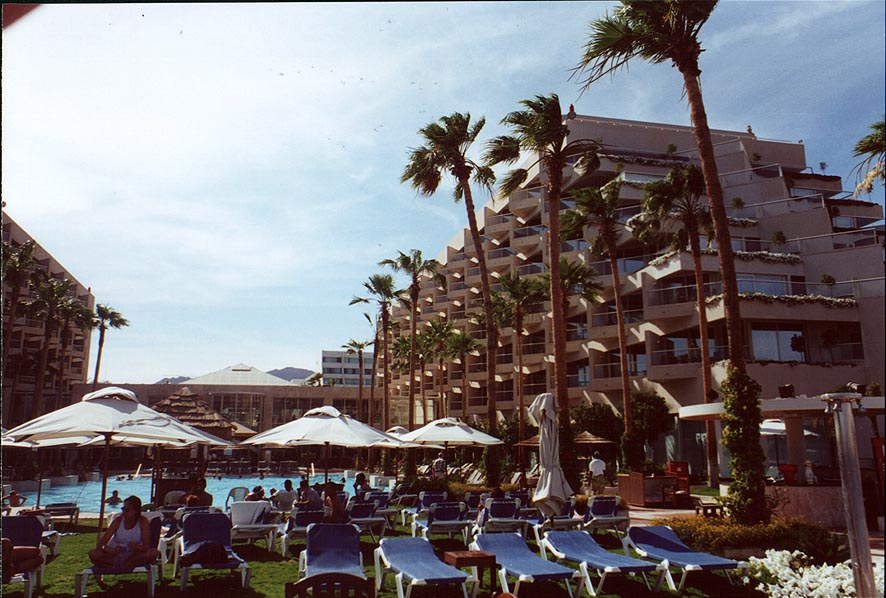 A tourist hotel on the beach in Eilat. The Middle East