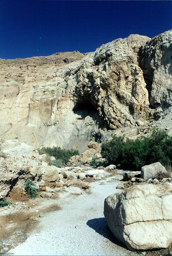 Entrance to Ein Bokek canyon. The Middle East