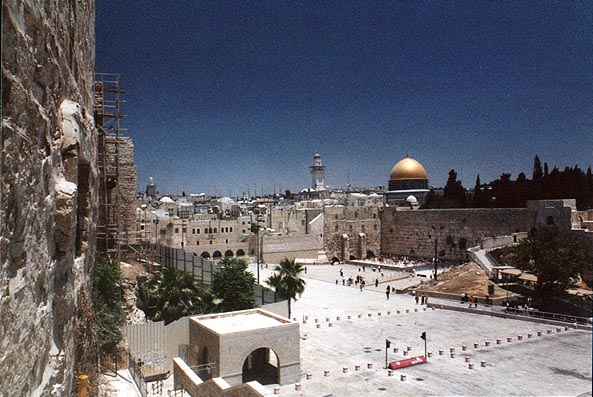Western Wall in the Old City. Jerusalem, the Middle East