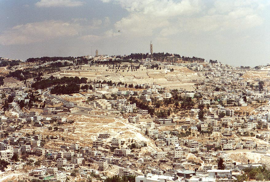 View of Jerusalem from a southern hill. The Middle East