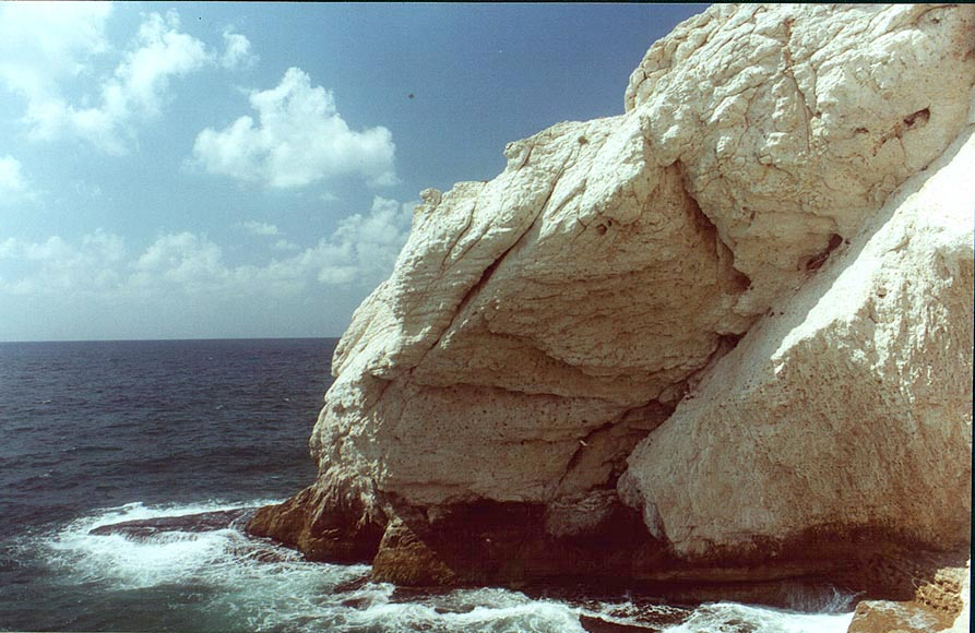 Cliffs of Rosh Hanikra. The Middle East