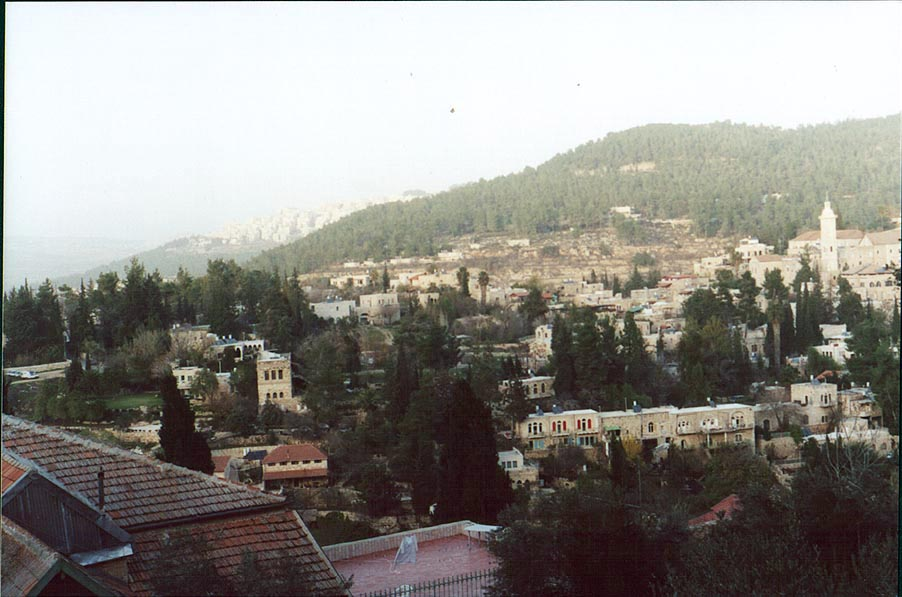 View of a former Arab village Ein Kerem, a suburb...Convent for women. The Middle East
