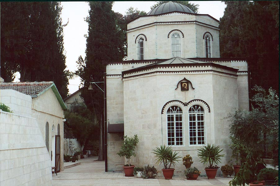 An Orthodox church in Gornensky Convent for women...western Jerusalem), the Middle East