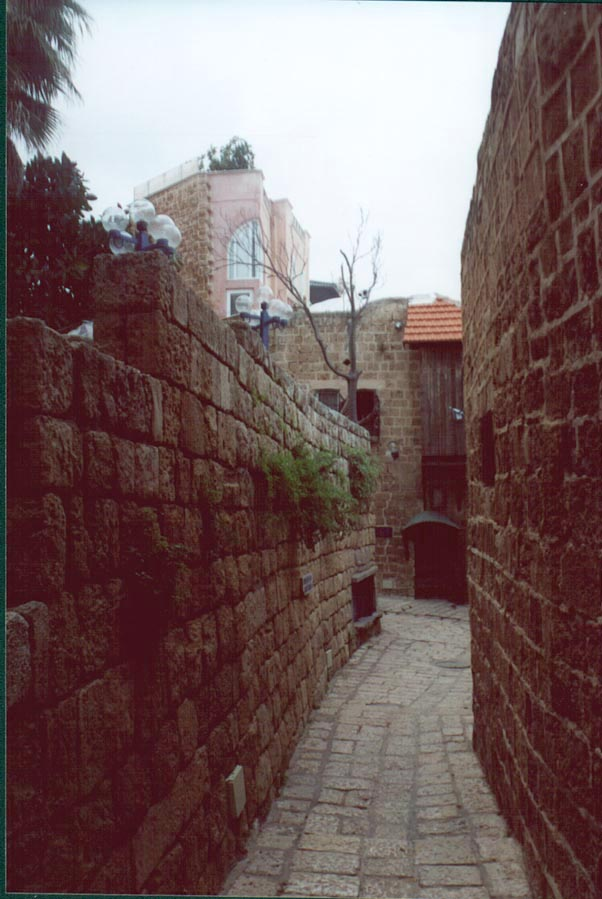Mazal Arie Street in Jaffa. The Middle East