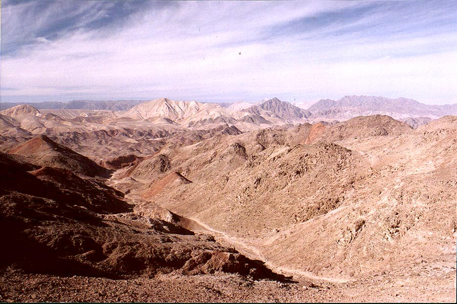 A trail going west near Mount Tzefahot, near...south-east from Eilat. The Middle East