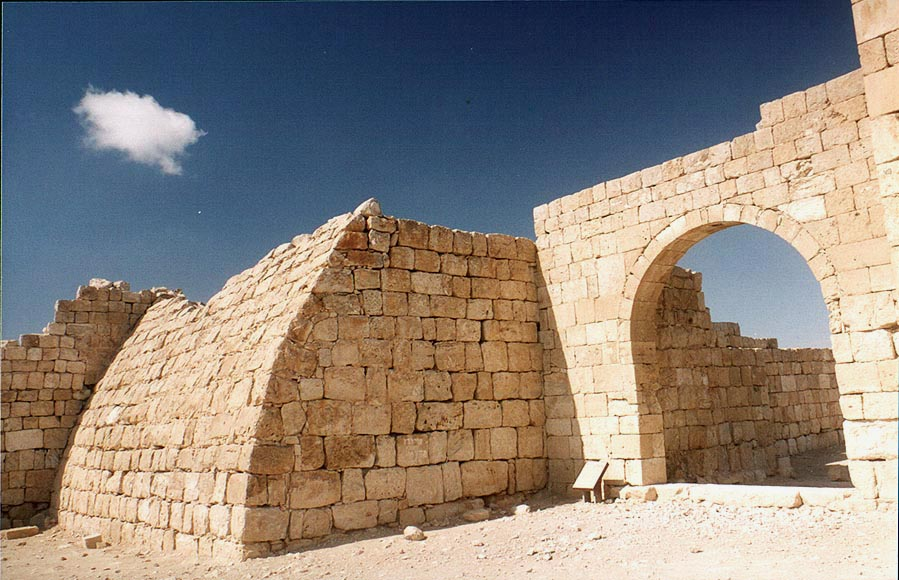 In Byzantine fortress. Avdat, the Middle East
