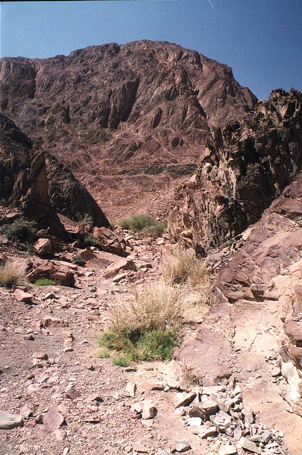 Alakhson creek on Geological Trail through Timna Mountains. The Middle East