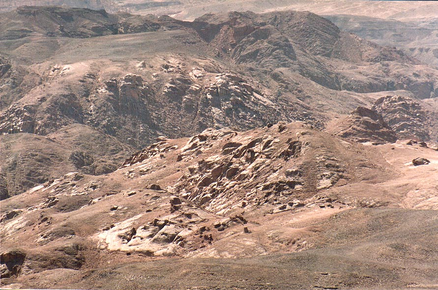View of a hill to the west from Timna Stage. The Middle East