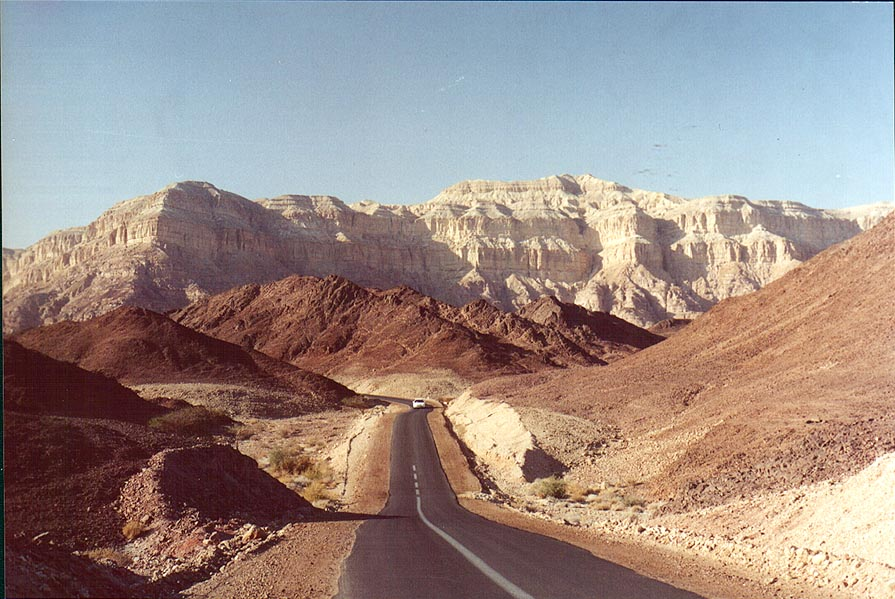 A road to copper mines in northern part of Timna Park. The Middle East