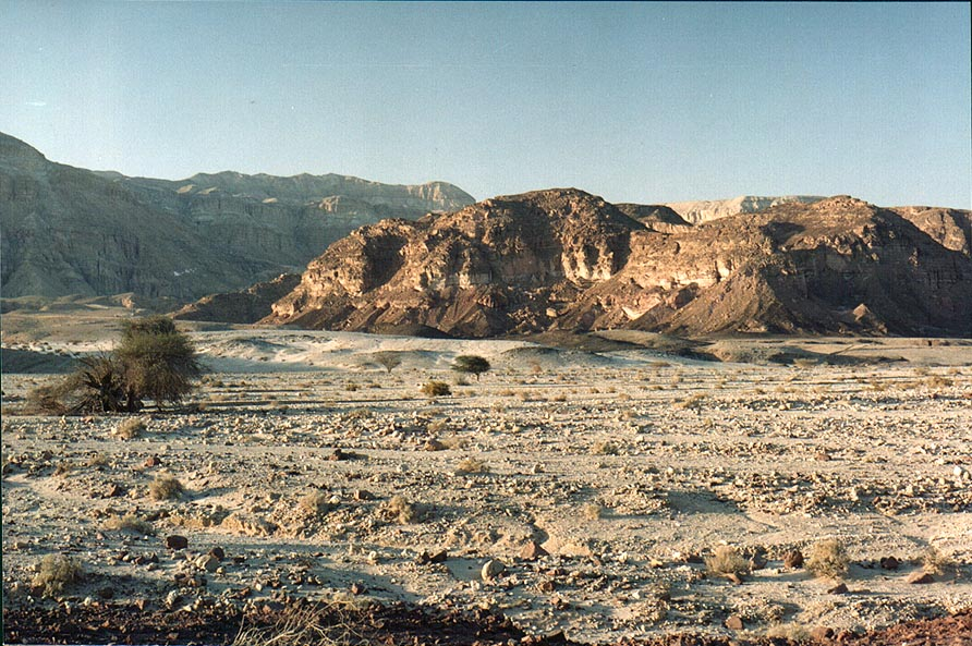 Timna River in northern part of Timna Park. The Middle East