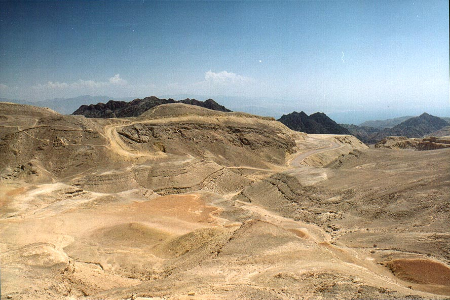 Area of Ihoram Mt. near Ma'ale Eilat Rd., 3 miles north-west from Eilat. The Middle East