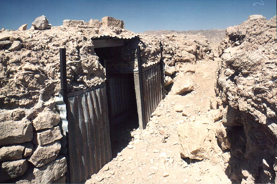 Trenches on Ihoram Mt. near Ma'ale Eilat Rd., 3...north-west from Eilat. The Middle East