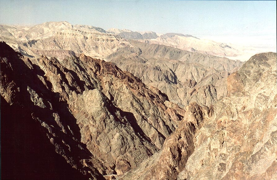 Mountains north from Mount Shelomo, 3 miles north-west from Eilat. The Middle East