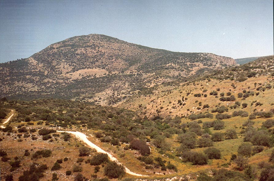 Nahal Ammo river in Galilee, view from Rd. 85. The Middle East