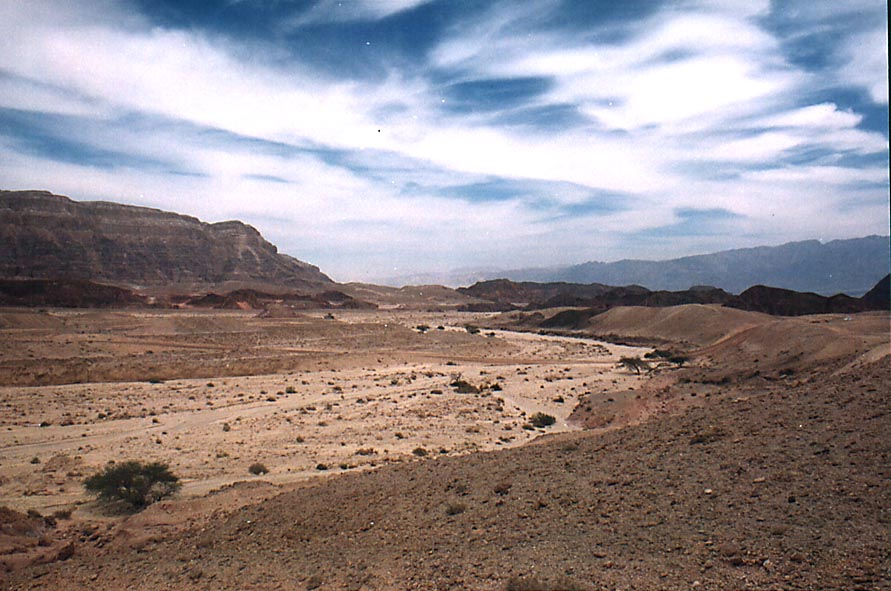 A road to copper mines in western Timna Park. The Middle East