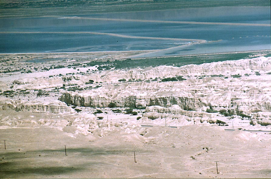 View of Dead Sea east from Maale Peres, 0.5 miles...east from Dimona. The Middle East