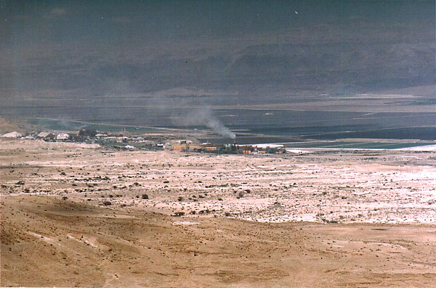 View of Dead Sea Works north-west from Maale...east from Dimona. The Middle East