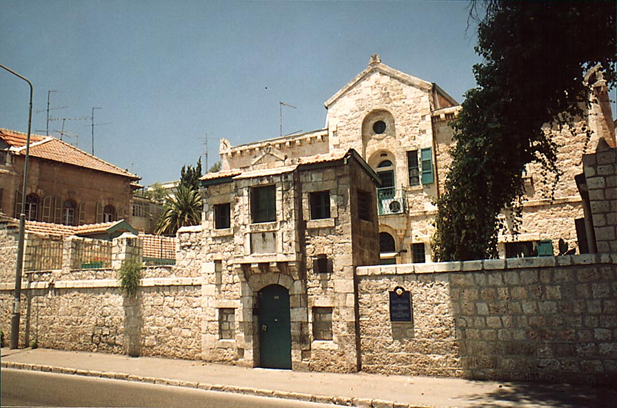 A building at HaNevi'im St.. Jerusalem, the Middle East