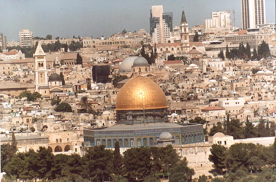 View of Dome of the Rock and Church of Holy...of Olives. Jerusalem, the Middle East