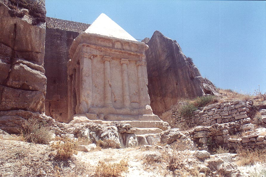 Tomb of Zechariah (Pyramid of Zacharias) in Kidron Valley. Jerusalem, the Middle East