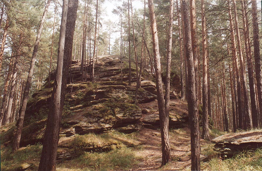 Ostantsy rocks (kind of geological formation) in...from Miass. Southern Ural, Russia