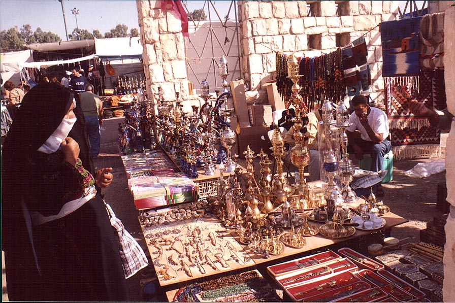 Souvenirs at Bedouin Market. Beer-Sheva, the Middle East