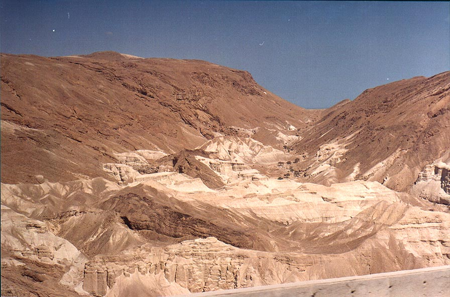View of Zohar gorge from a road from Arad to the Dead Sea. The Middle East