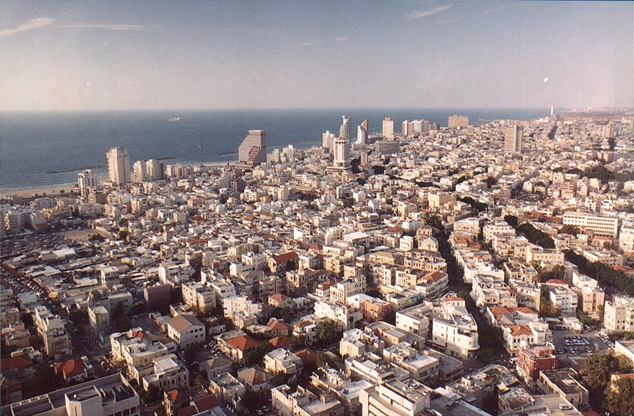 Downtown Tel Aviv to the north from Migdal Shalom...St. is to the right. The Middle East