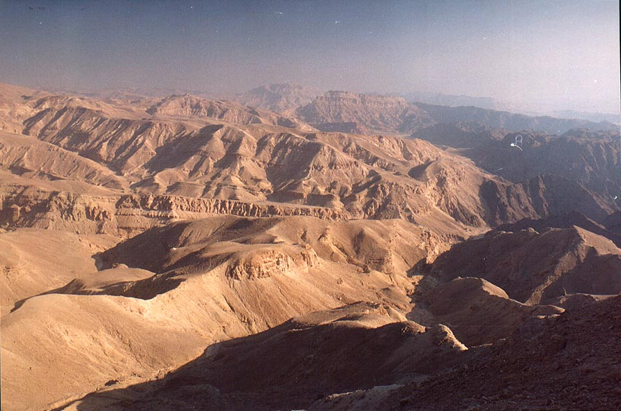 View to the north from Mount Yehoram, 3.5 miles north-west from Eilat. The Middle East